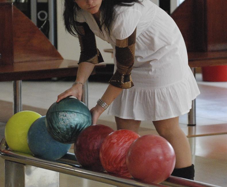 Bowling-golf en el Restaurant de Calella