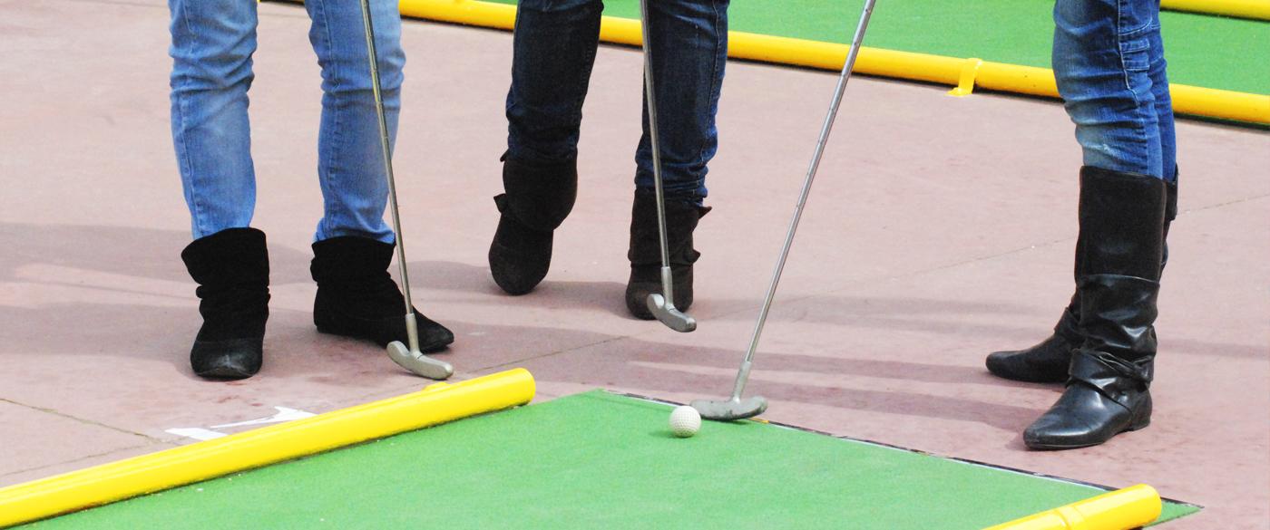 pals de minigolf al Bowling-golf Calella