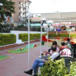 Vistes del Minigolf des de Terrassa Restaurant Calella