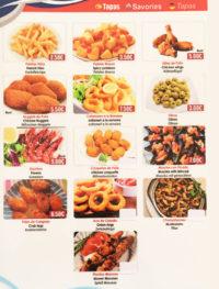 carta tapas Restaurant en Calella